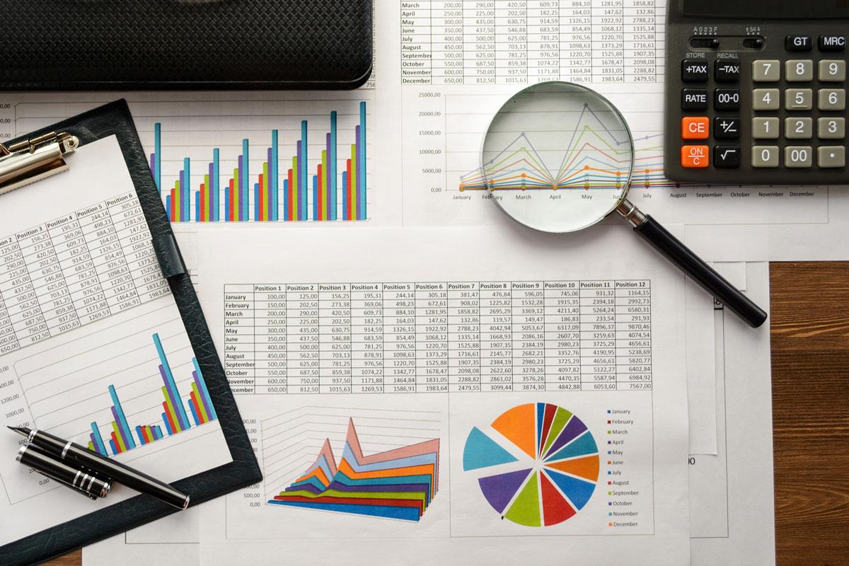 Retirement planning documents on a desk