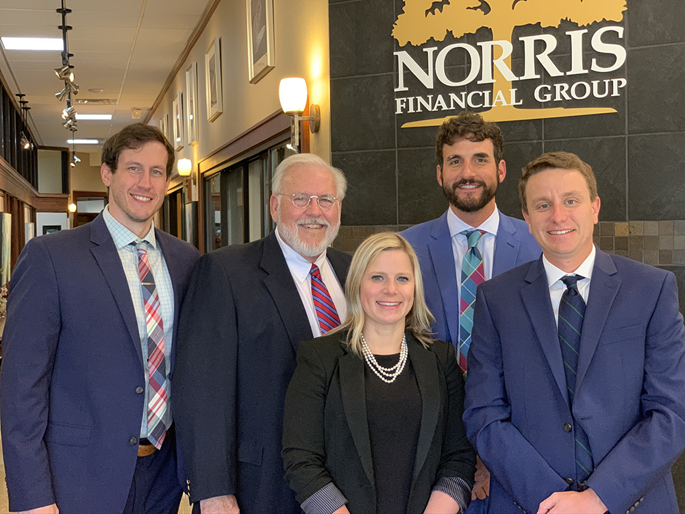 Staff photo of all Norris Financial employees